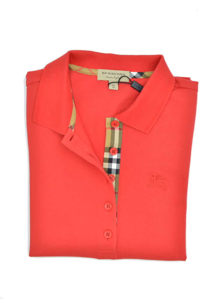 T-shirt polo Burberry donna manica lunga