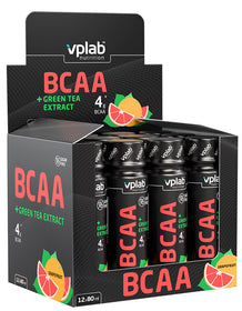VPLab BCAA + Green Tea Extract shot 80 ml x 12 gab. (kaste)