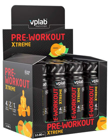 VPLab Pre-Workout Xtreme shot 80 ml x 12 gab. (kaste)