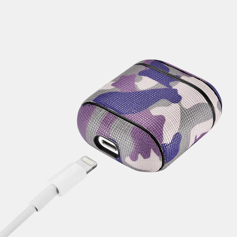 Camo Desert Sand Leather Custom AirPods 1 & 2 Case Hook Series