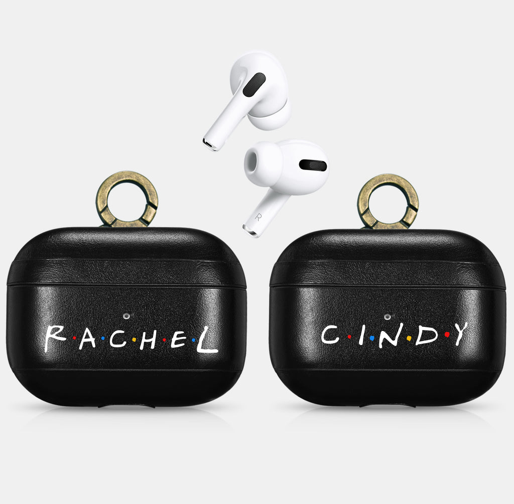 AirPods PRO FRIENDS TV Show Custom Name Black  Case Personalized