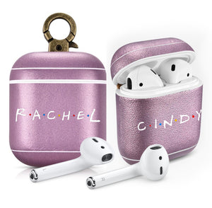 FRIENDS TV Show Custom Name Purple AirPods 1 & 2 Case Personalized