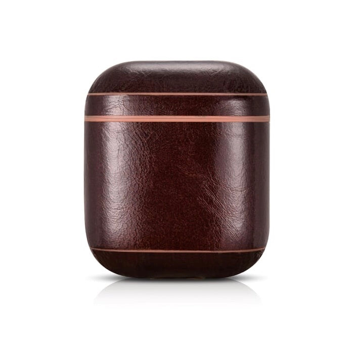 Luxury Dark Brown Premium Leather AirPods 1 & 2 Case