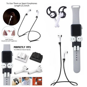 3 IN 1 Anti Lost Apple AirPods 1 & 2 Accessories | Earphone Holder Neck Strap Watch Band