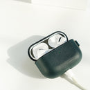 AirPods Pro Case Personalized Customized Leather Split Monogram Name Personalization Engraving