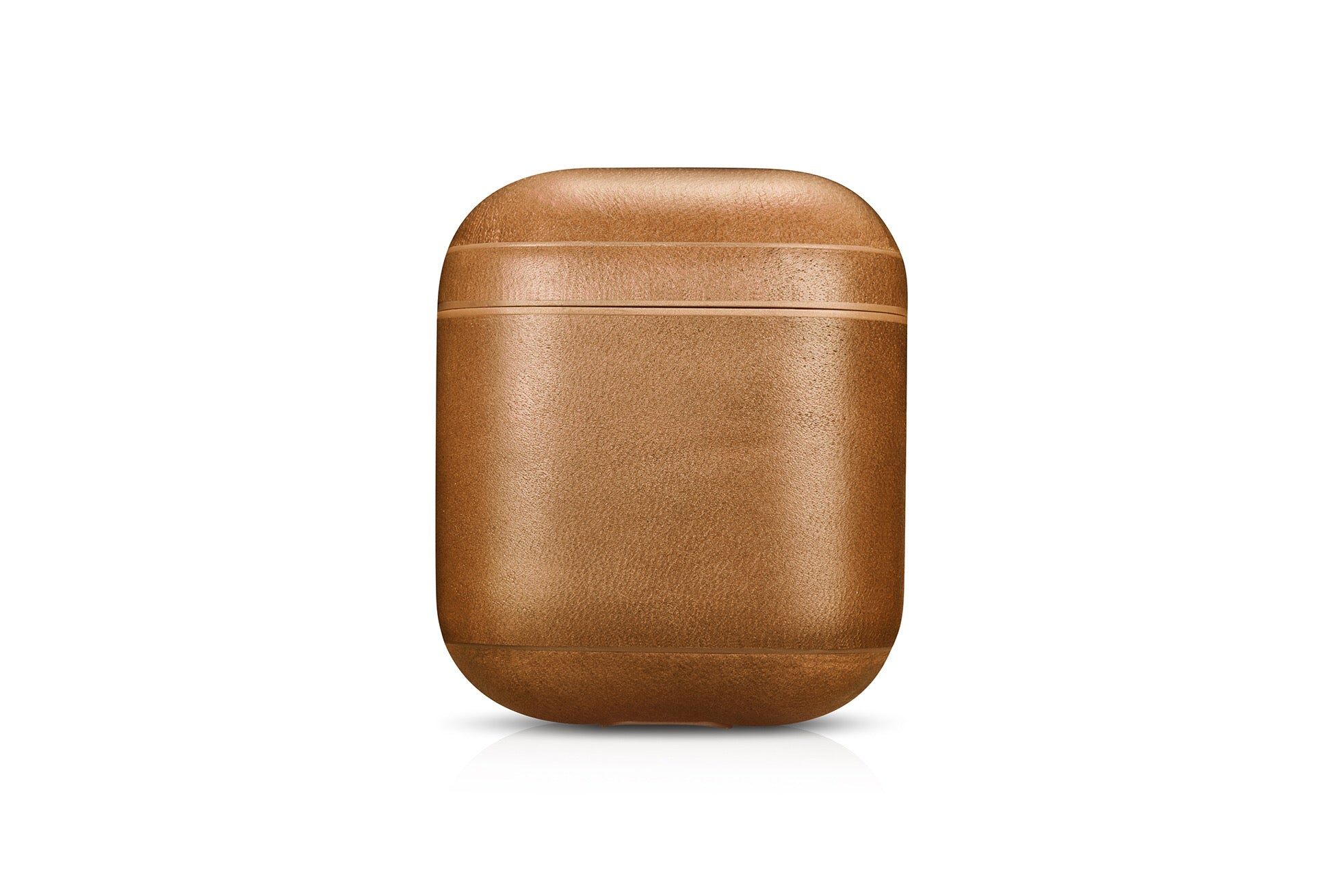 Vintage Tan Premium Leather AirPods 1 & 2 Case