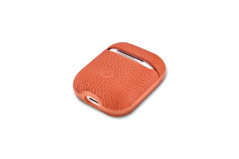 Genuine Pebble Leather AirPods 2 Case with Color Embossing Personalization
