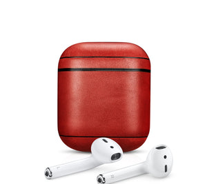 Personalize it Super Cool Red Leather AirPods 1 & 2 Case