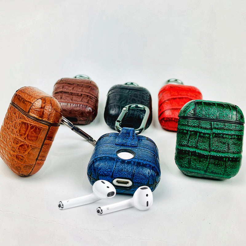 Custom Croc Faux Leather AirPods 1&2 Case