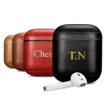 Personalized Color Embossed Leather Apple Airpods 1&2 Case