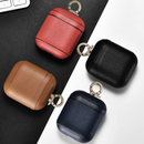 Non Custom Napa Leather Apple AirPods Case +Clip Black Blue Brown Red