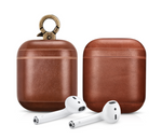 Vintage Brown Personalized Leather AirPods 1 & 2 Case