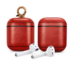 Vintage Red Personalized Leather AirPods 1 & 2 Case
