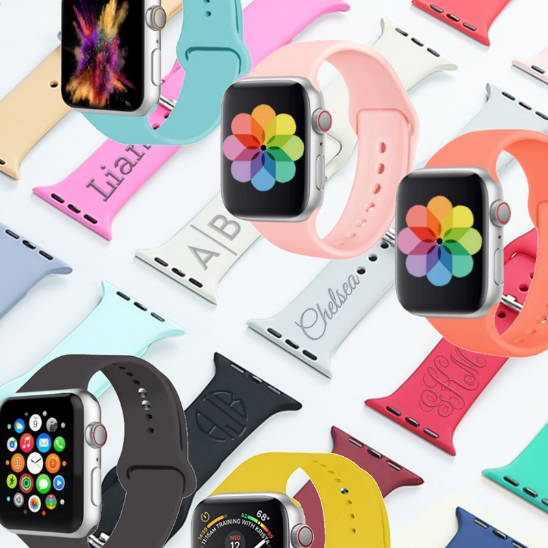 Personalized Colorful Sport Apple Watch Band