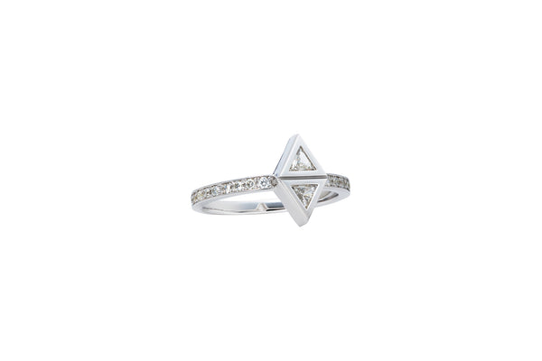 Attack Ring_WG × White Dia 0.35ct