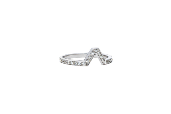 Attack Ring_WG × White Dia 0.24ct