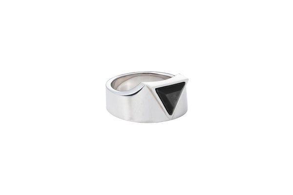 Defense Ring_SV925 × Black Onyx