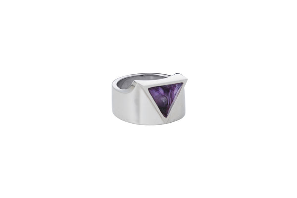 Defense Ring_SV925 × Charoite