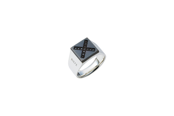 [オンライン限定]<br> Invincible Ring_SV925 × Black Dia 0.16ct