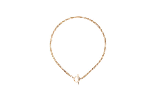 Deep Necklace_YG × White Dia 0.10ct
