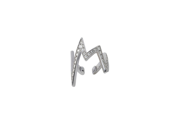 Noise Ear Cuff_WG × White Dia 0.40ct