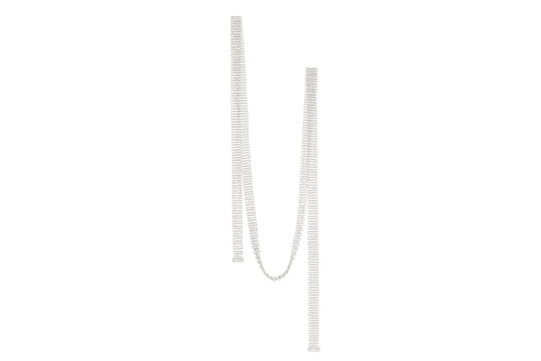 Knit Necklace_WG × White Dia 0.08ct