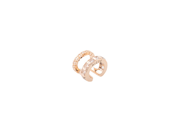 Alignment Ear Cuff_PG × White Dia 0.12ct