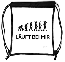 Laden Sie das Bild in den Galerie-Viewer, Rucksack durchsichtig, transparenter Turn-Beutel für Festival, Konzert, Party Clear Secure Safe Bag, Aufdruck: Läuft bei mir