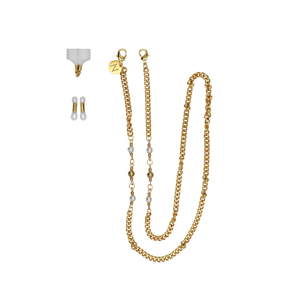 Gold Pearls Airpods Holder
