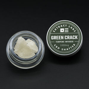 Extract Labs Green Crack CBD Shatter | 100mg