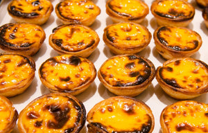 Authentic traditional Portuguese Egg Custard tart/egg tart