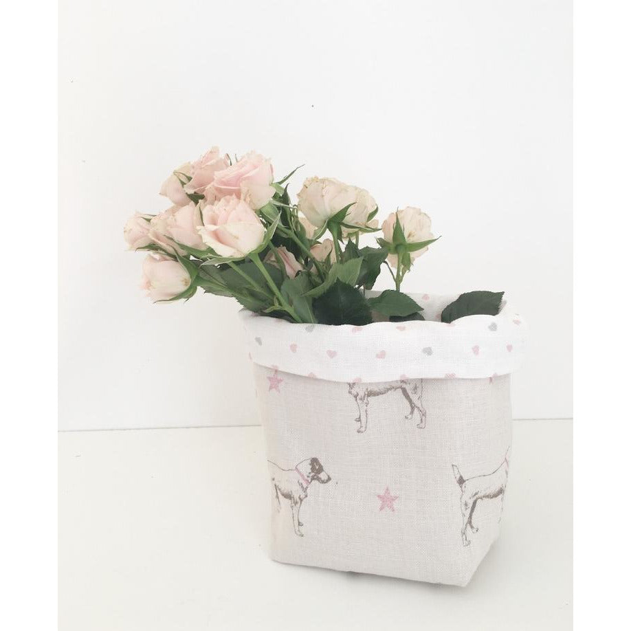 Fabric Pot ~ Jack Russell All Stars