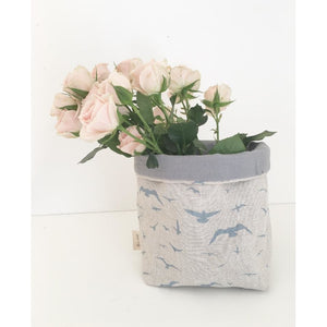 Fabric Pot ~ Seagulls