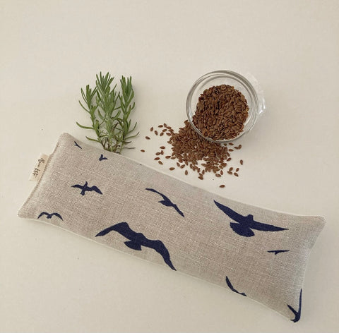 Eye Pillow Seagull - Navy on Stone