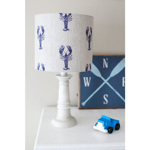 Peony & Sage Lobster Linen Lampshade
