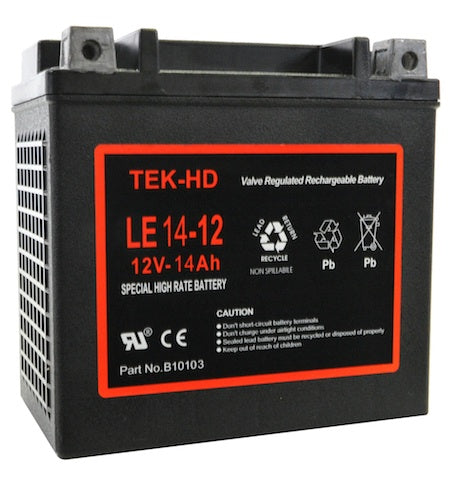 CRANKING Battery 12v-14Ah TEK-HD  Proffessional Battery