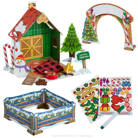 ELF PETS® CHRISTMAS CABIN PLAYSET