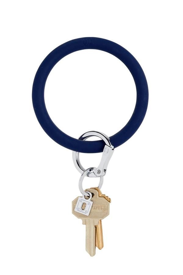 O-Venture Silicone Key Ring - Navy