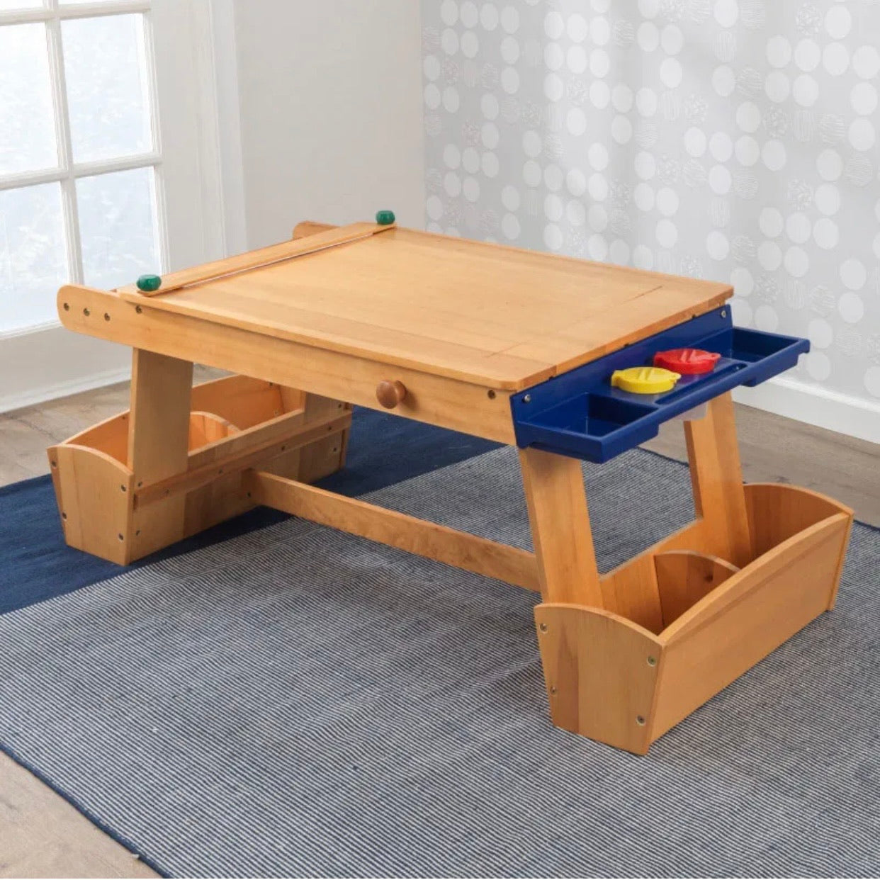 KidKraft Art Table with Drying Rack & Storage