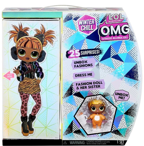 L.O.L. Surprise! O.M.G. Winter Chill Missy Meow Fashion Doll & Baby Cat Doll with 25 Surprises