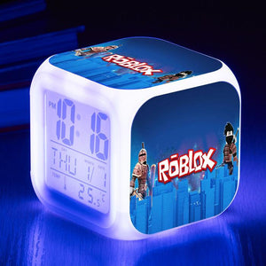Roblox Digital Alarm Clock 7 Colors Change Nightlight Blue