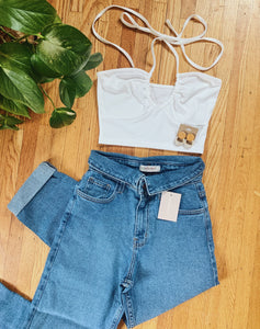 Tie Up Halter Crop Top