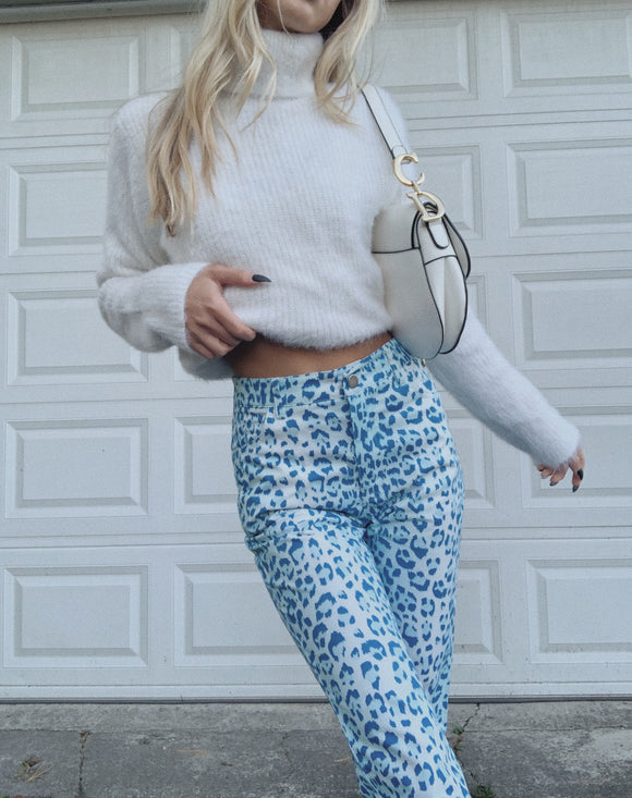 Blue Cheetah Pant Jeans