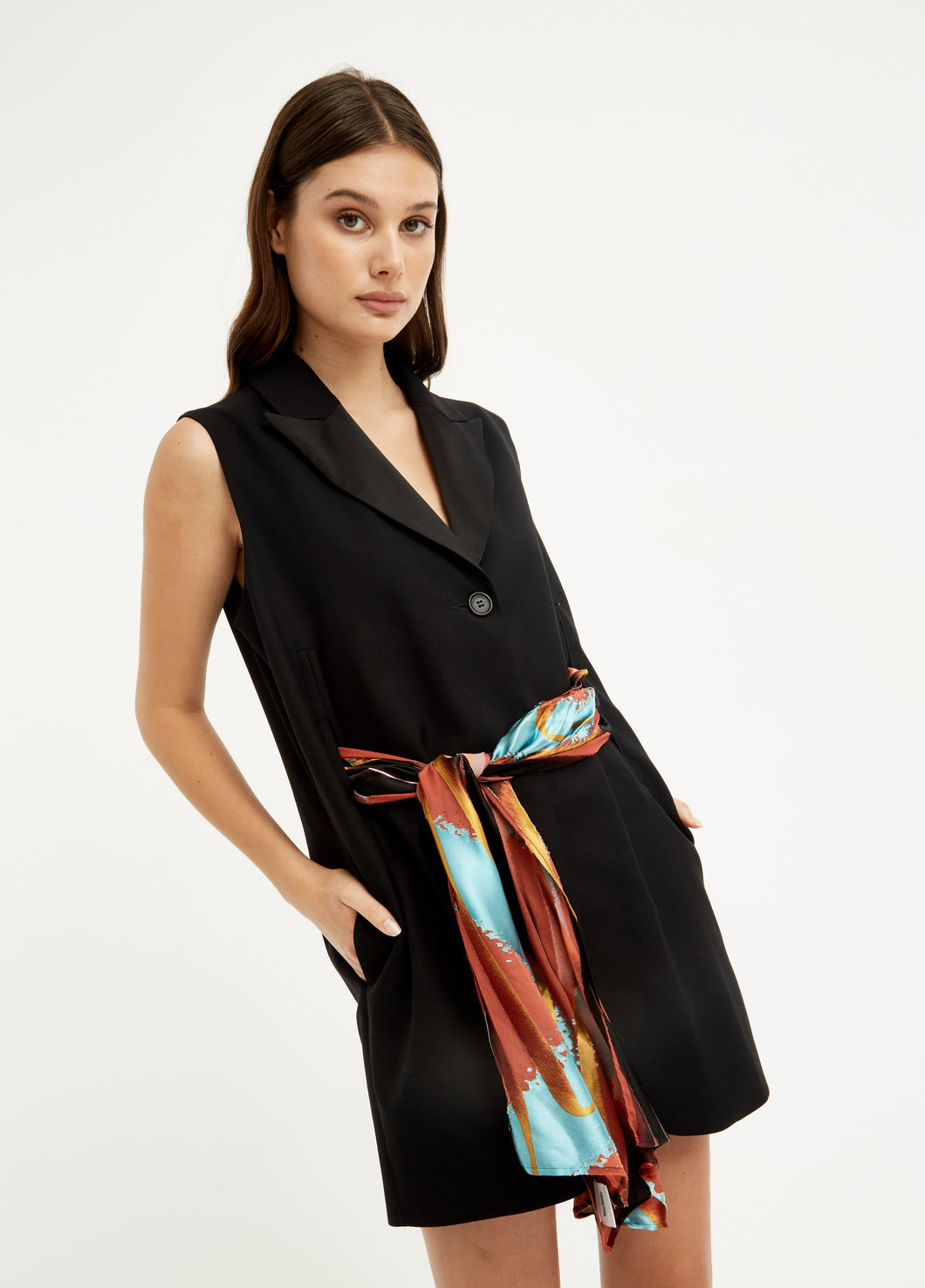 Scarf Blazer Dress