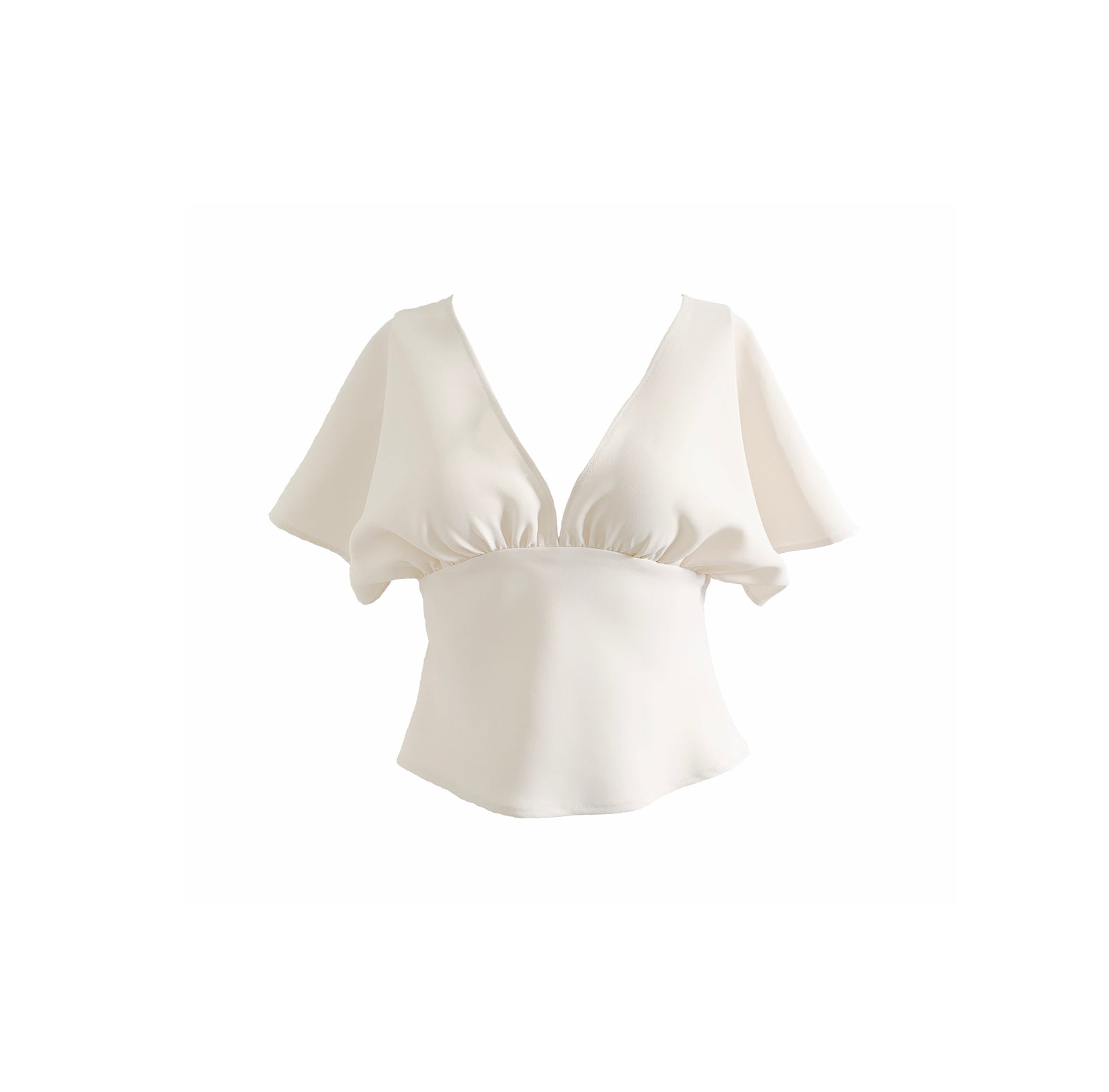 Gathered Top | Ivory