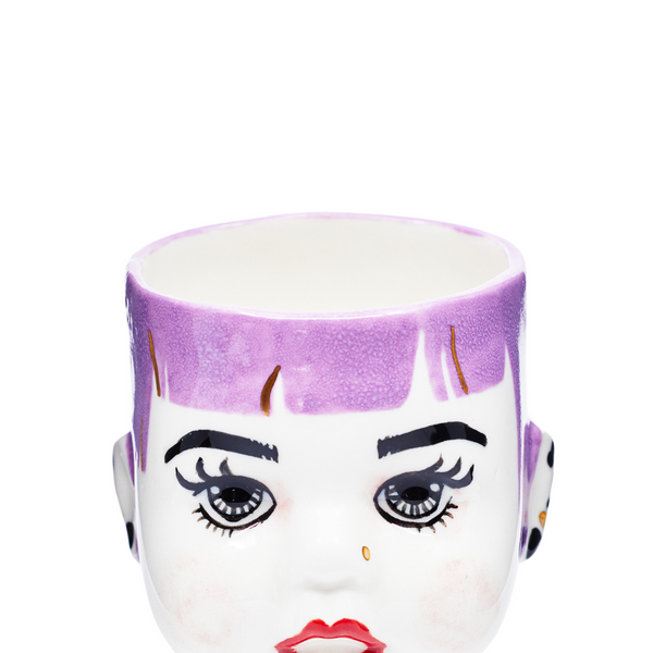 Purple hair lollipop doll hand painted by Oditi Designs