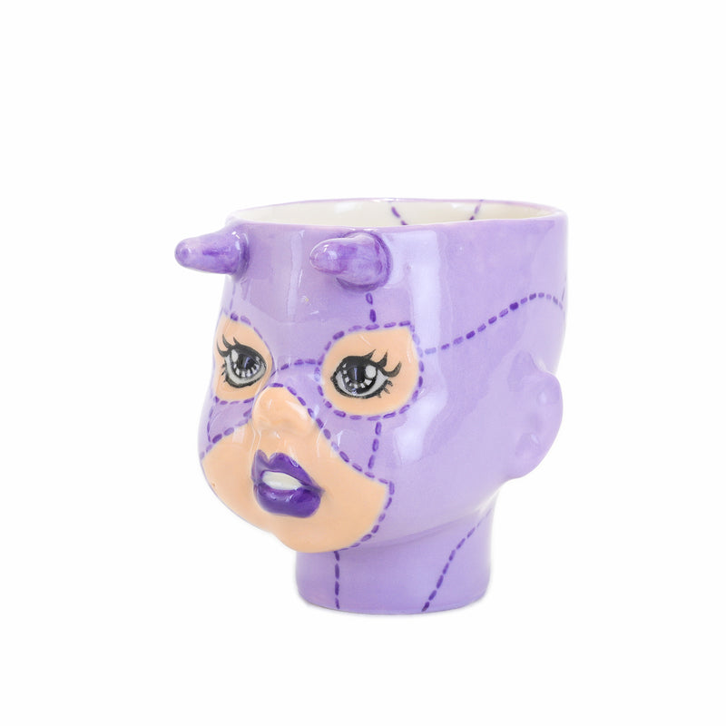 Cece the purple devil doll cup side