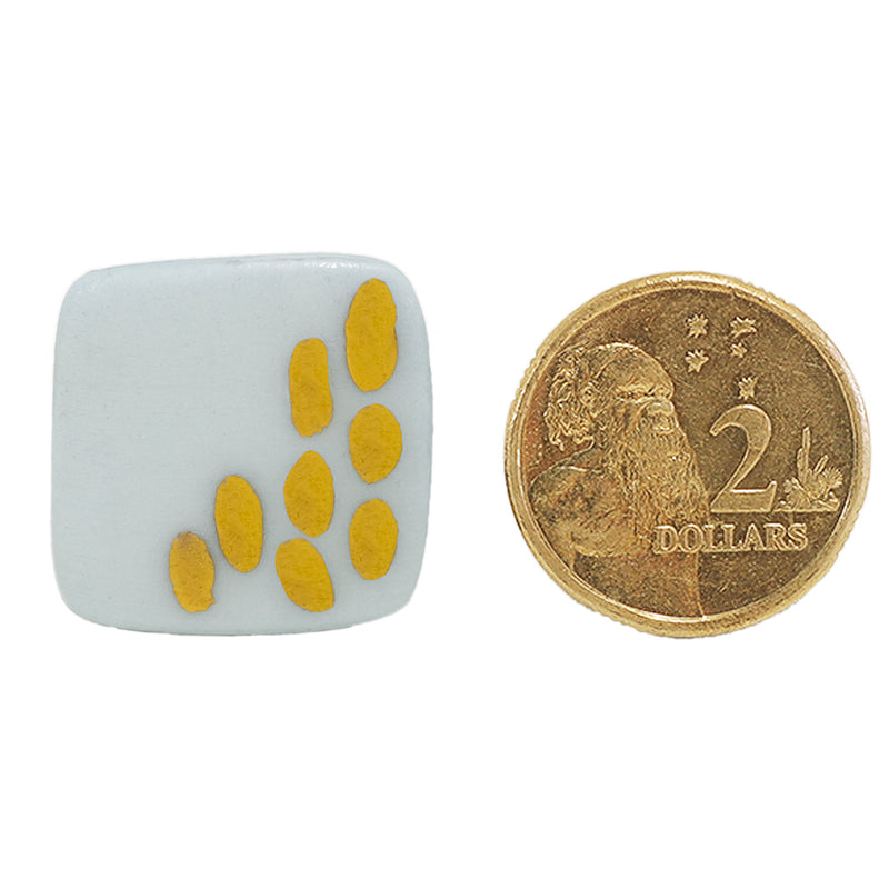 MED light blue square stud earrings with gold by Oditi Designs
