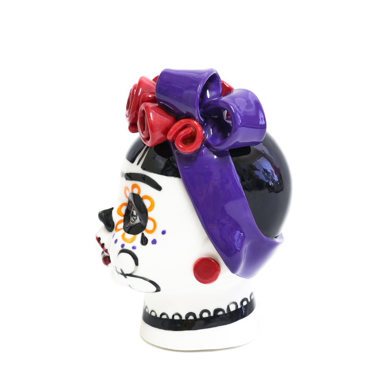Frida purple bow side