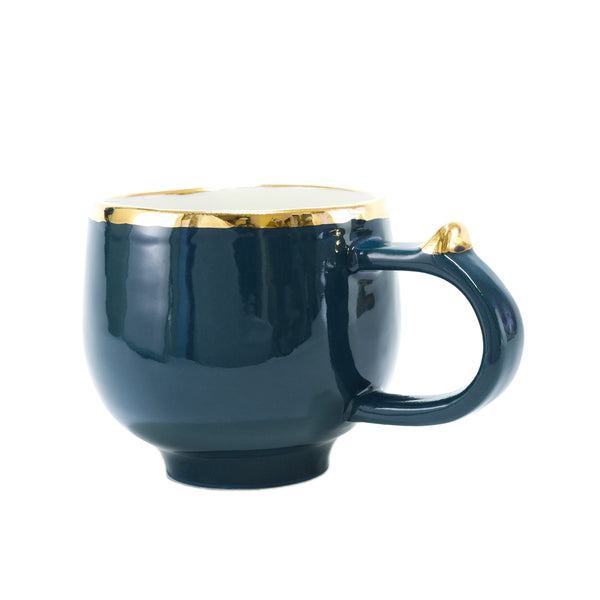 Oditi Designs teal round cup handle